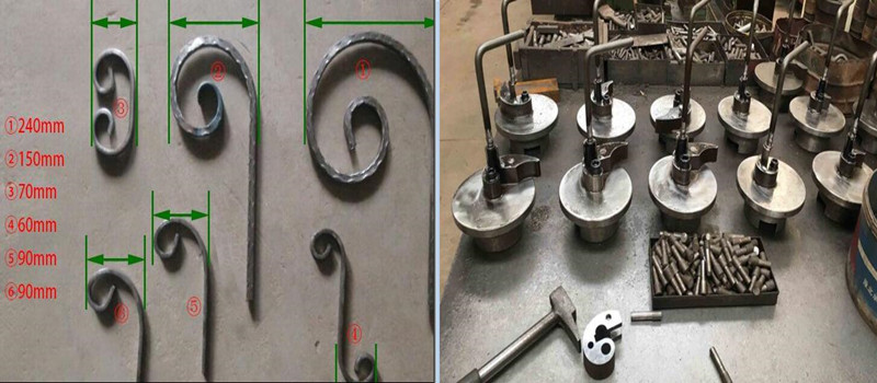Different scroll bending attachements