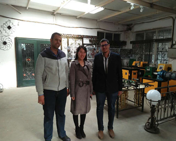 Customers visiting factory