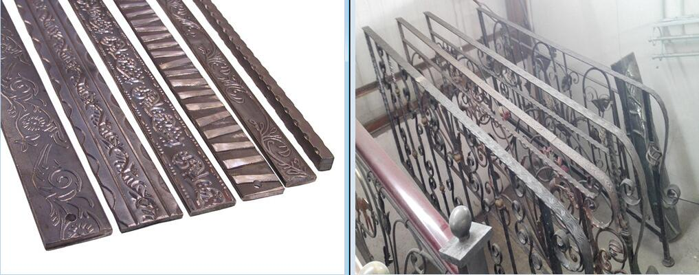 Embossing wrought iron railings