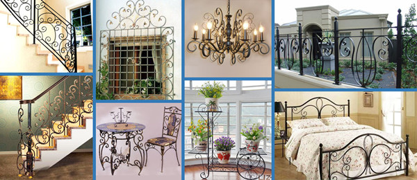 Wrought iron finished products